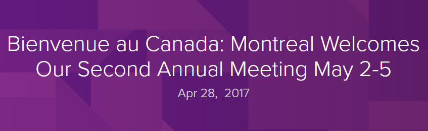 WORLD PANCREATIC CANCER COALITION MEETING (Montreal, Καναδάς) 2-5 ΜΑΙΟΥ 2017