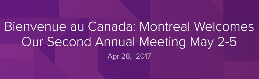 WORLD PANCREATIC CANCER COALITION MEETING (Montreal, Καναδάς) 2-5 ΜΑΙΟΥ 2017